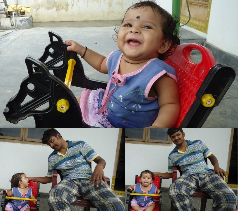 One evening with Nithya baby