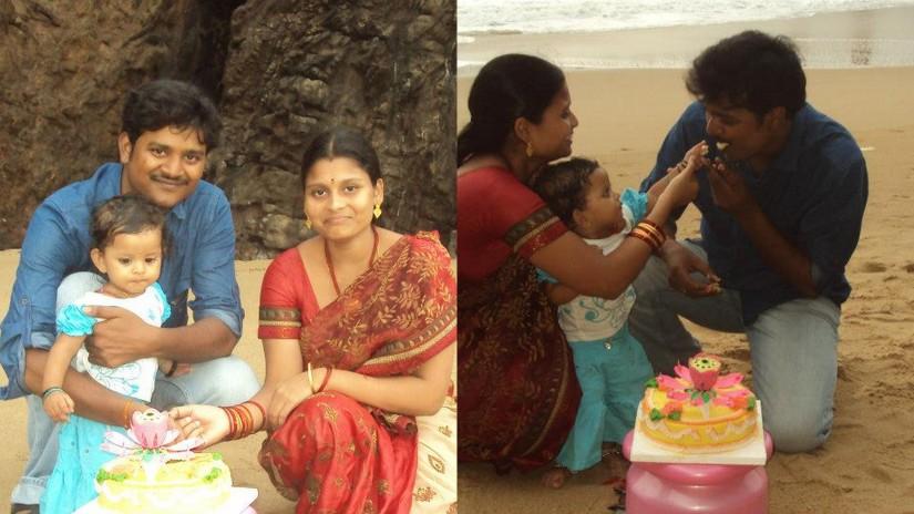 nanna's bday celebrations at sea shore