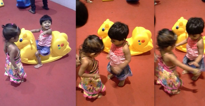 playing with comedian Ali's daughter