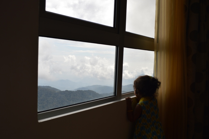 Enjoying the view from room