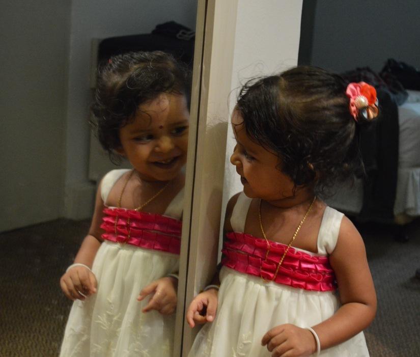 playing hide n seek with lady in mirror ;)