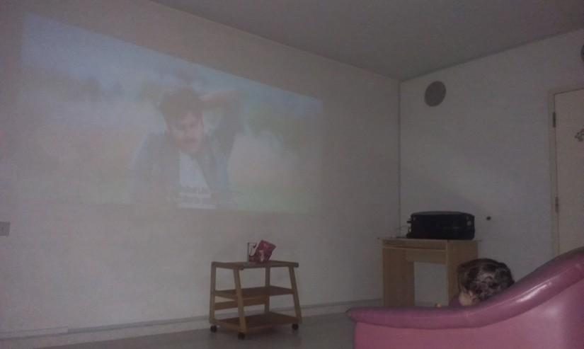 Busy watching Gabbar Singh on big screen ;)