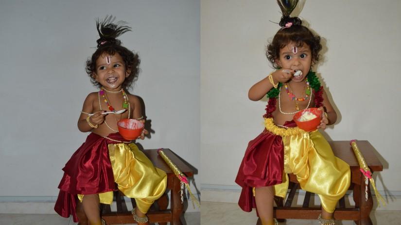 Krishna busy having........Ice cream ;)