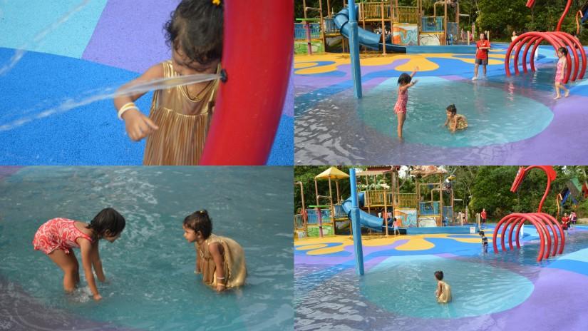 enjoying in water park in Zoo
