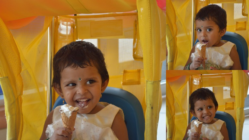 Enjoying Ice Cream :)