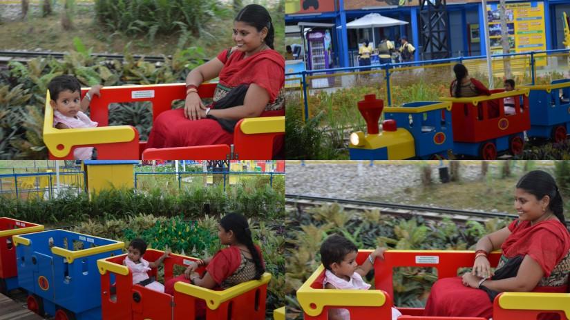Lego Train with Amma