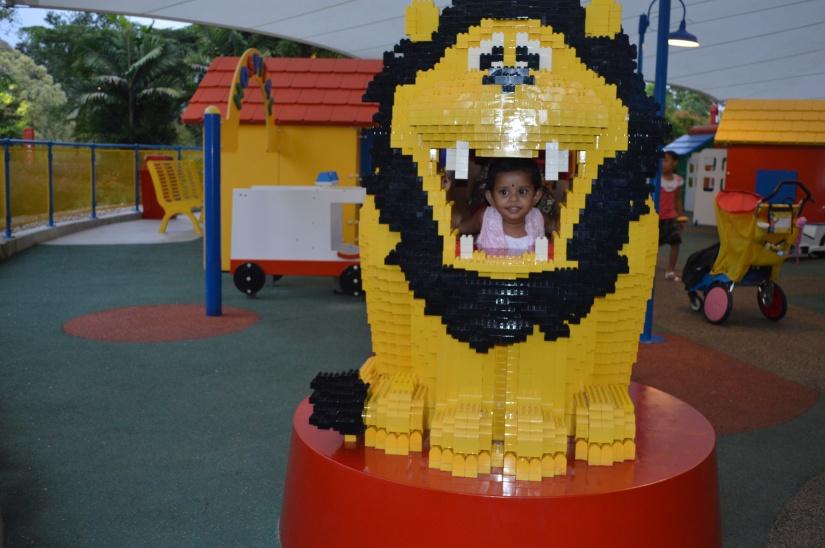 Nithya with Lego Lion
